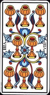 8 De Coupe Tarot