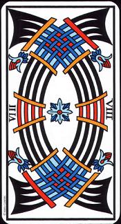 8 D'épée Tarot