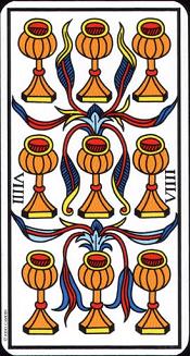 9 De Coupe Tarot