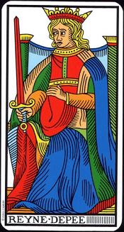 Reine D'épée Tarot