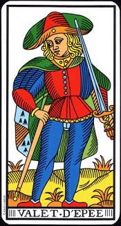 Valet D'épée Tarot
