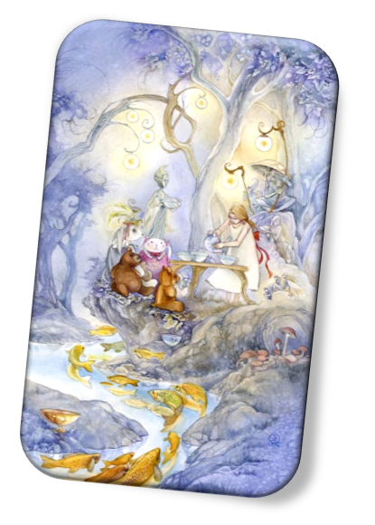 Six of Cups Shadowscapes Tarot in a spread